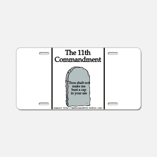 the 11th Aluminum License Plate