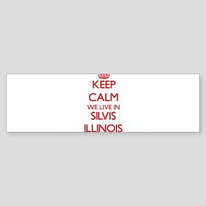 Keep calm we live in Silvis Illinoi Bumper Sticker