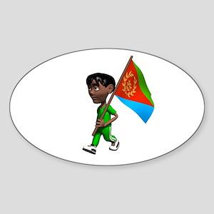 Eritrea Boy Oval Sticker