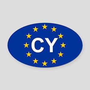 sticker CY blue 5x3 Oval Car Magnet