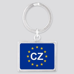 sticker Cz blue 5x3.psd Keychains