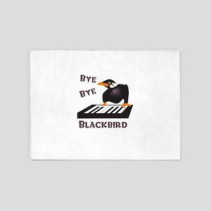 BYE BYE BLACKBIRD 5'x7'Area Rug