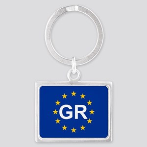 sticker GR blue 5x3 Keychains