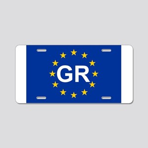 sticker GR blue 5x3 Aluminum License Plate