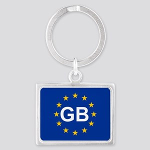 sticker GB blue 5x3.psd Keychains