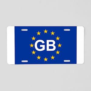 sticker GB blue 5x3 Aluminum License Plate