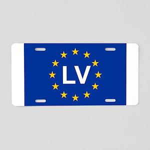 sticker LV blue 5x3 Aluminum License Plate