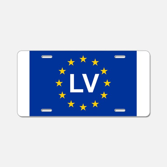 sticker LV blue 5x3.psd Aluminum License Plate