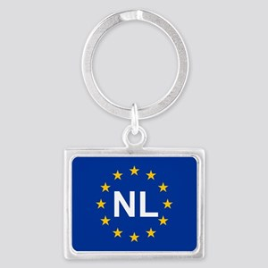 sticker nl blue 5x3 Keychains