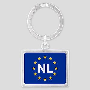 sticker nl blue 5x3.psd Keychains