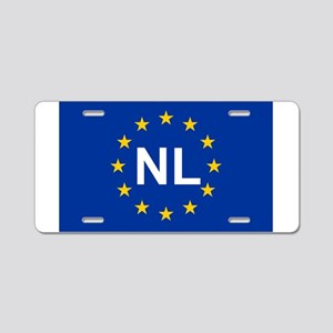 sticker nl blue 5x3 Aluminum License Plate