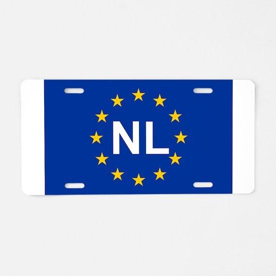 sticker nl blue 5x3.psd Aluminum License Plate