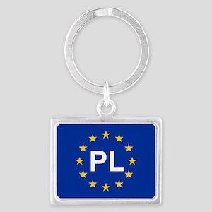sticker pl blue 5x3.psd Keychains