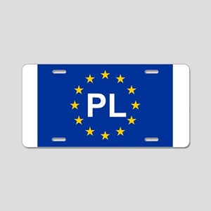 sticker pl blue 5x3 Aluminum License Plate
