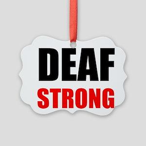 Deaf Strong Ornament