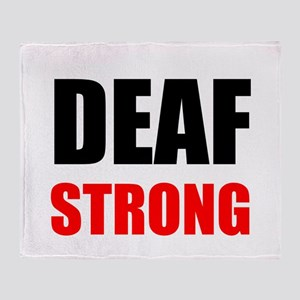 Deaf Strong Throw Blanket