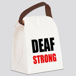 Deaf Strong Canvas Lunch Bag