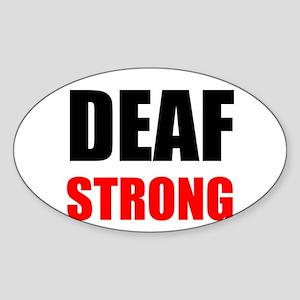 Deaf Strong Sticker