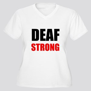 Deaf Strong Plus Size T-Shirt