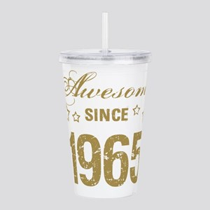 Awesome Since 1965 Acrylic Double-wall Tumbler
