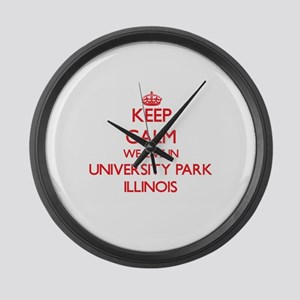 Keep calm we live in University P Large Wall Clock