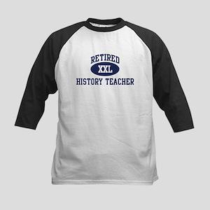 Retired History Teacher Kids Baseball Jersey