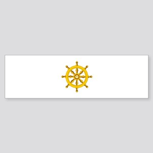 DHARMA BUDDHISM WHEEL Bumper Sticker