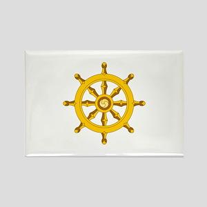 DHARMA BUDDHISM WHEEL Magnets