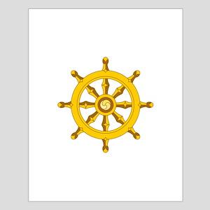 DHARMA BUDDHISM WHEEL Posters