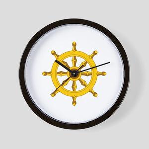 DHARMA BUDDHISM WHEEL Wall Clock