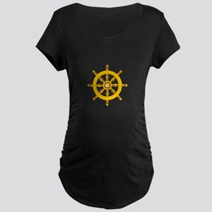 DHARMA BUDDHISM WHEEL Maternity T-Shirt