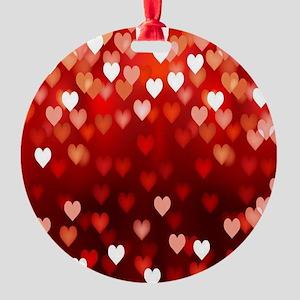 1,2,3,4,5.....hearts Round Ornament