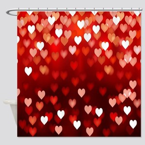 Happy Valentines Day Shower Curtains