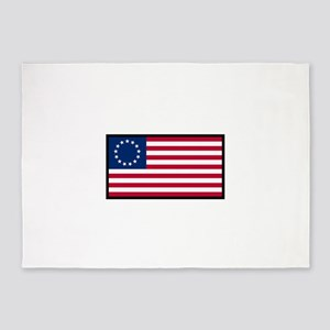 BETSY ROSS AMERICAN FLAG 5'x7'Area Rug