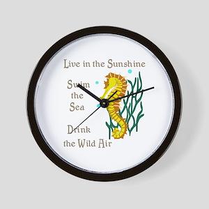 LIVE SWIM DRINK Wall Clock