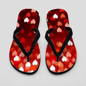 1,2,3,4,5.....hearts Flip Flops