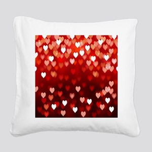 1,2,3,4,5.....hearts Square Canvas Pillow