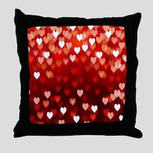 1,2,3,4,5.....hearts Throw Pillow