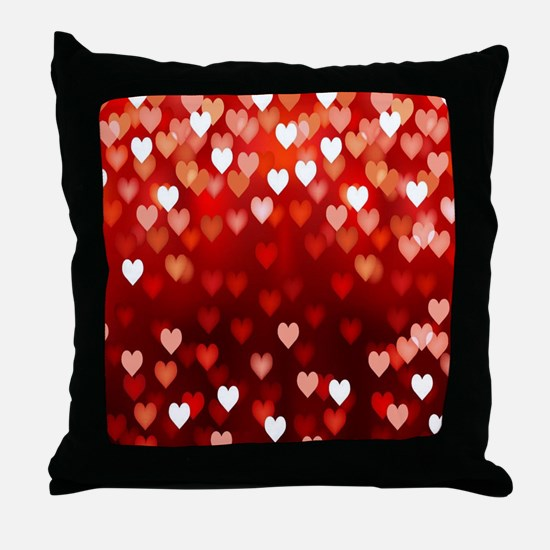 1,2,3,4,5.....hearts Throw Pillow