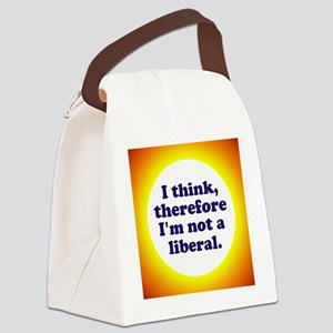Not a Liberal! Canvas Lunch Bag