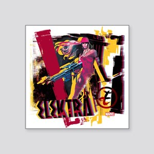 "Elektra Graphic Square Sticker 3"" x 3"""