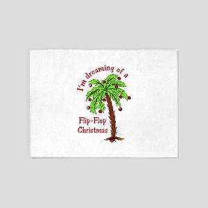 FLIP FLOP CHRISTMAS 5'x7'Area Rug