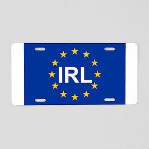 sticker irl blue 5x3 Aluminum License Plate