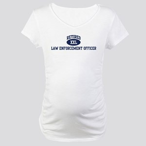 Retired Law Enforcement Offic Maternity T-Shirt