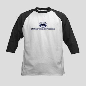 Retired Law Enforcement Offic Kids Baseball Jersey