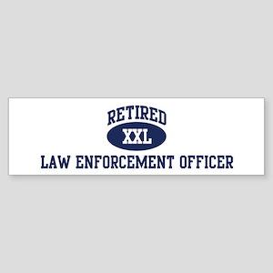 Retired Law Enforcement Offic Bumper Sticker