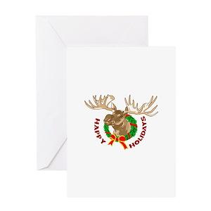 moose christmas greeting cards cafepress