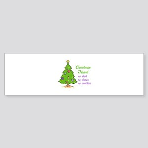 CHRISTMAS TREE ISLAND Bumper Sticker