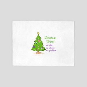 CHRISTMAS TREE ISLAND 5'x7'Area Rug