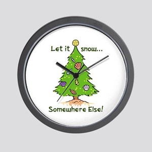 LET IT SNOW SOMWHERE ELSE Wall Clock
